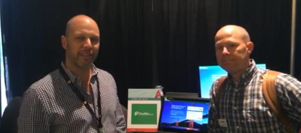 On the Startup Alley floor: Proffer